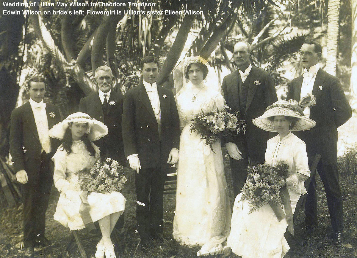 Wedding of Lillian May Wilson and Theodore Troedson